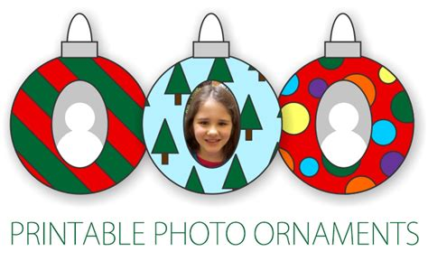 Printable Christmas Photo Ornaments | 101 days of christmas printable photo ornaments life