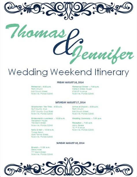 wedding day of itinerary template 25 best ideas about wedding itinerary template on