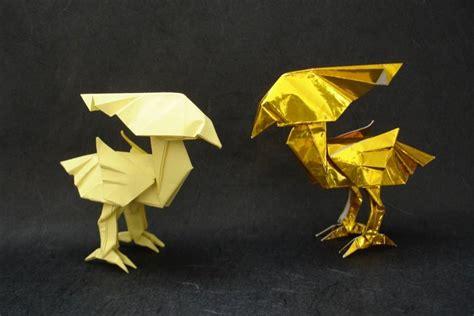Chocobo Origami - chocobos kamiya by origami artist galen on deviantart