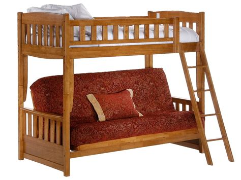Futon Bunk Bed Wood Wooden Bunk Beds With Futon Bm Furnititure