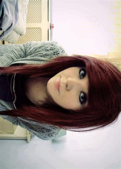 emo hairstyles burgundy i love her hair style scene pinterest hair style