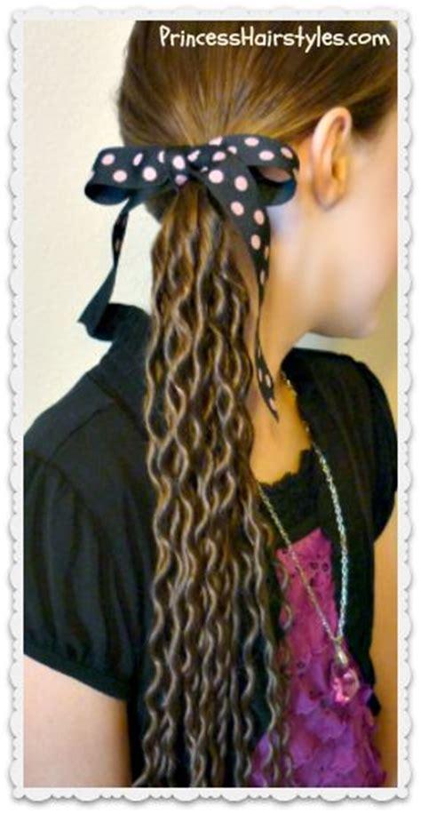 princess hairstyles noodle curls no heat curling tutorial noodle curls princess