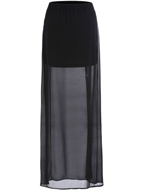 Rok Fashionable Cindia Navy Mini Skirt best 25 chiffon skirt ideas on chiffon maxi
