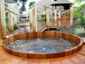 Backyard patio ideas with hot tub landscaping gardening ideas