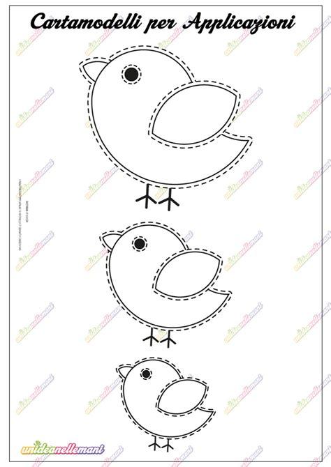 Come Fare Un Uccellino Di Carta by Cartamodello Uccellino Pulcino Da Stare
