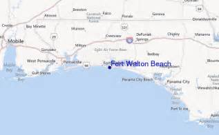 walton florida map fort walton surf forecast and surf reports florida