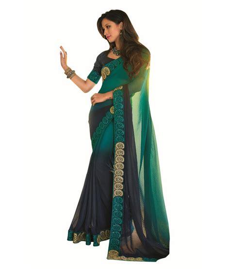 Orderan A N Sari vishal sarees multicoloured georgette saree buy vishal sarees multicoloured georgette saree