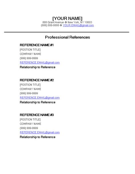 resume reference list format business receipt templates expense