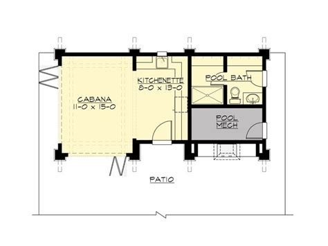 cabana floor plans pool house plans pool cabana with outdoor kitchen 035p