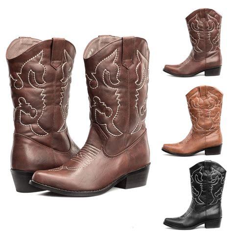 shesole womens western cowboy boots wedding cheap cuban