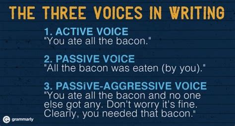 pattern active voice how to use the passive voice correctly bacon patterns