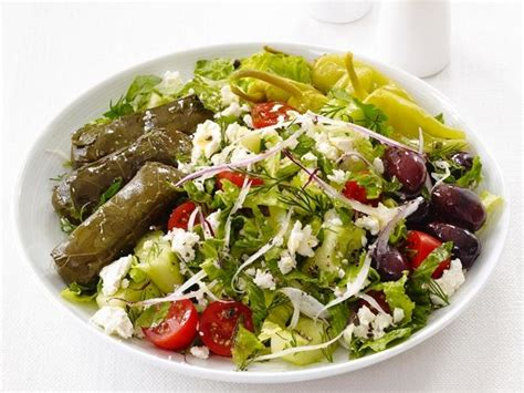 dinner salad recipes greek dinner salad recipe food network kitchen food
