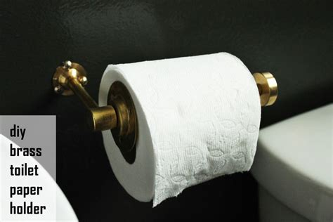 diy toilet paper holder diy chic brass toilet paper holder