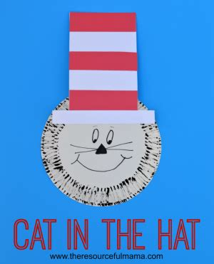 cat in the hat paper plate craft paper plate dr seuss cat in the hat craft the