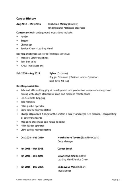 resume of mine resume ideas