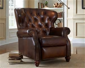 Mission Oak Sofa American Made Tufted Leather Recliner