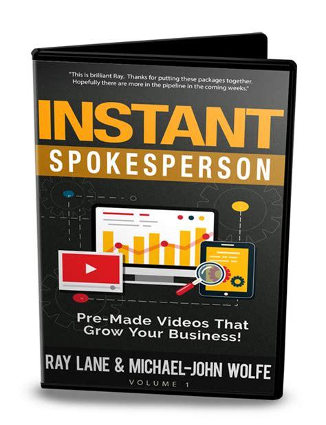 instant review instant spokesperson review bonus marketing
