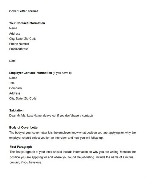 formatting a cover letter professional letter format 22 free word pdf documents