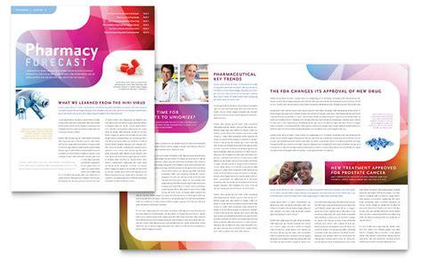 pharmacy school newsletter template word publisher