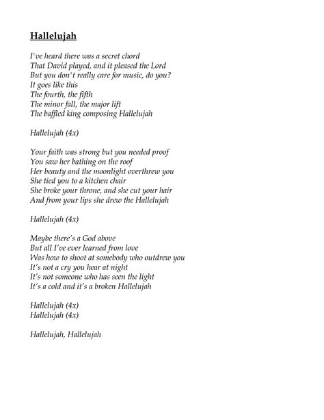 best version of hallelujah song hallelujah cohen one of my favorite and most soul