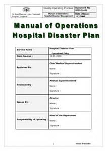 Hospital Disaster Recovery Plan Template best photos of disaster plan exle sle disaster