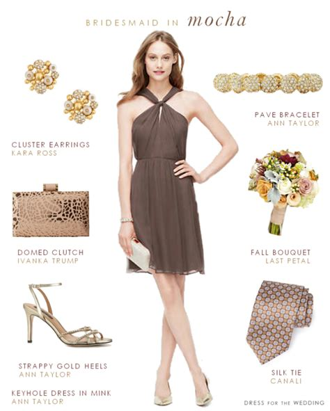 mocha colored dress bridesmaid dresses for fall weddings