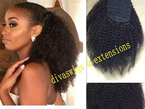 pony tails forcurly african american hair cheap afro ponytail extension buy quality afro drawstring