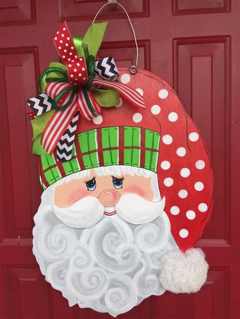 how to make a christmas door hanging on youtube 42 best santa door hangers images on crafts door hangers and