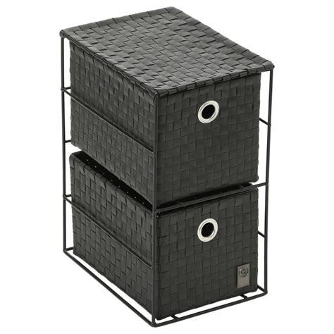 petit meuble tiroirs petit meuble 2 tiroirs noir