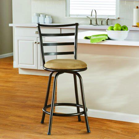 Mainstays Metal Swivel Counter Stool 24 Black by Mainstays 24 Quot Ladder Back Barstool With Microfiber