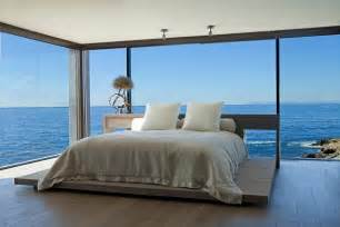 Ocean Bedroom Incredible Beach House In California Brings The Ocean Indoors