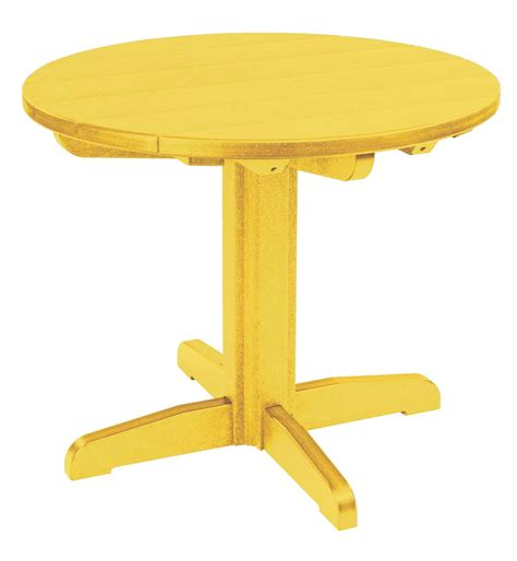 Yellow Dining Table Generations Yellow 32 Quot Pedestal Dining Table Tbt12 04