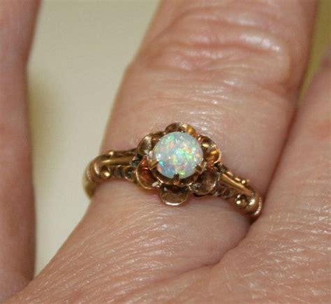 vintage opal and gold ring antique opal ring vintage