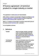 ip licence agreement  rights   invention