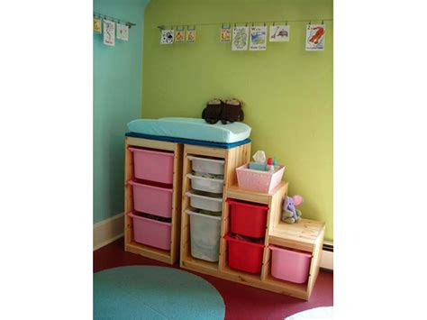 Changing Table Storage Bins 31 Gender Neutral Nursery Diy Projects Ideas