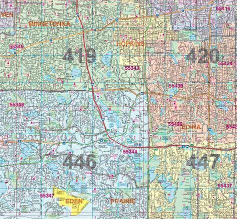 zip code map twin cities hudson s twin city wall map hudson map company