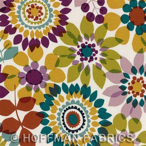 cute eggplant pattern summers end napa hoffman fabrics designer cotton