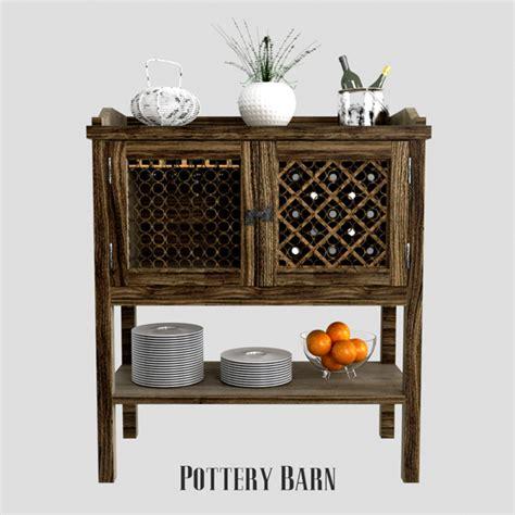 pottery barn bar cabinet pottery barn bar cabinet by erkin aliyev 3docean