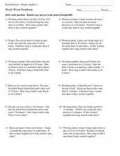 work word problems 8th 10th grade worksheet lesson planet