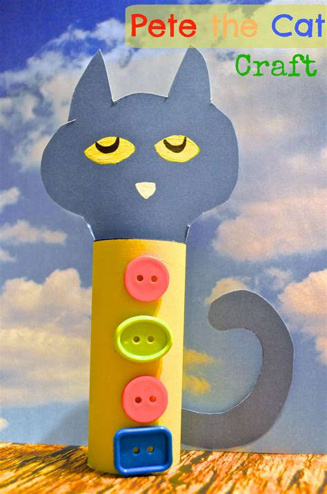 pet the pete the cat toilet paper craft for