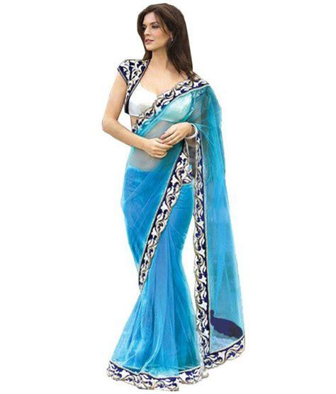 Orderan A N Sari designer saree blue cotton silk saree buy designer saree blue cotton silk saree at low