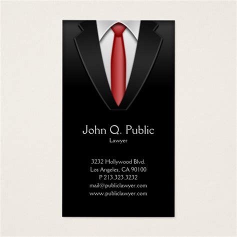 Black Suit Business Card Template by Attorney Lawyer Tailor Black Suit Tie Business Card