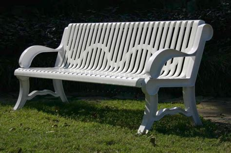 outdoor park bench park bench outdoor recycled iron plastic metal park