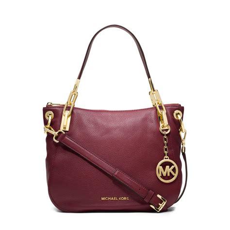 Gryson Shoulder Bag 2 by Michael Kors Leather Medium Shoulder Bag In Purple