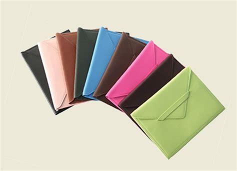 Key Pocket Envelope Color Carfu R tabbed closure colored leather photo envelopes
