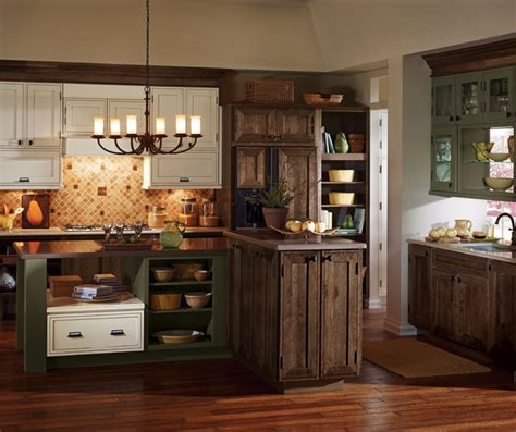 Rustic Kitchen Cabinets Decora Cabinetry Rustic Black Kitchen Cabinets