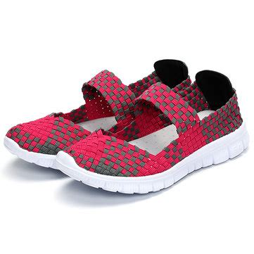 Flat Shoeskr 82 065 casual light knitting sport health breathable flat shoes us 34 82