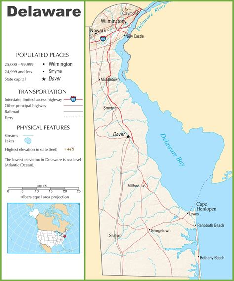detailed map of delaware delaware highway map
