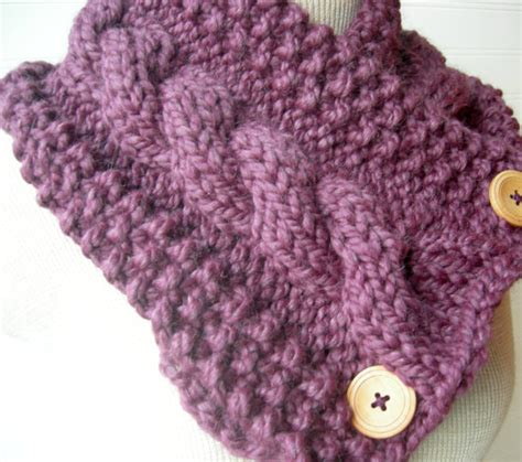 pattern knitting scarf cable bulky cable knit scarf pattern images