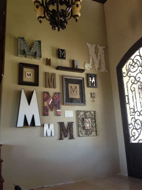 letter home decor monogram wall for the home pinterest monogram wall